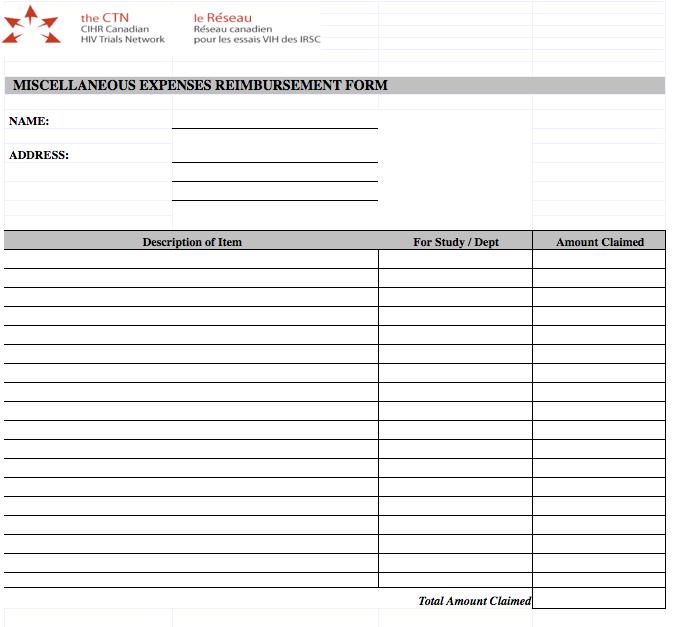 miscellaneous expense claim form